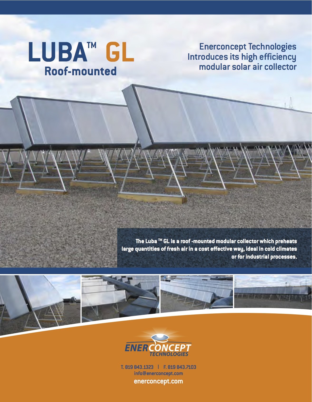 Lubi™ Glazed Solar Air Heater by Enerconcept Shift Energy LLC #A86823